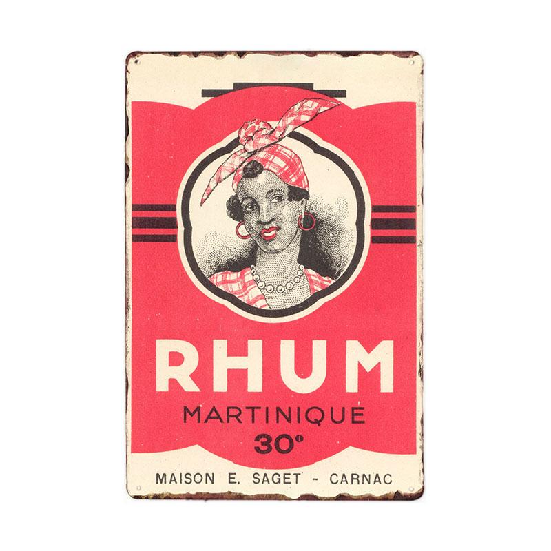 Винтажный металлический жестяной плакат с ромом винтажные металлические