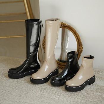 High boots zipper Martin womens thick-soled autumn and winter new short X647
