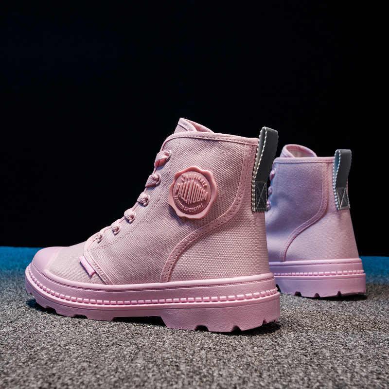 ผู้หญิงสบายๆรองเท้าสบายๆแฟชั่นผู้หญิงรองเท้าผ้าใบ 2019 ใหม่รองเท้าผ้าใบรองเท้าฤดูใบไม้ผลิ Zapatos Mujer