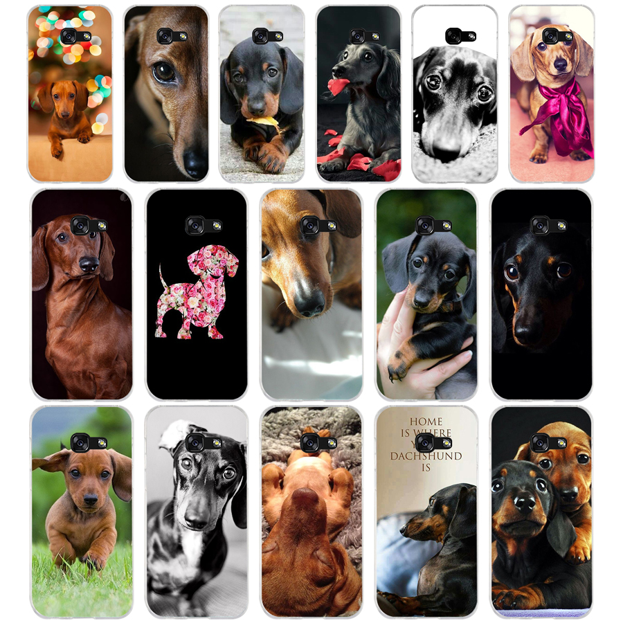 108FG Dachshund Teckel Dackel <font><b>Dog</b></font> Soft Silicone Tpu Cover <font><b>phone</b></font> <font><b>Case</b></font> for <font><b>Samsung</b></font> <font><b>a3</b></font> 2016 a5 <font><b>2017</b></font> a6 plus a7 a8 2018 s6 7 8 9 image