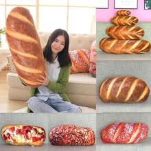 Panjang Mentega Roti Daging Benang Wijen Pizza Beefsteak Bantal Makanan Plush Bantal Simulasi Snack Dekorasi Backrest Cushion(China)