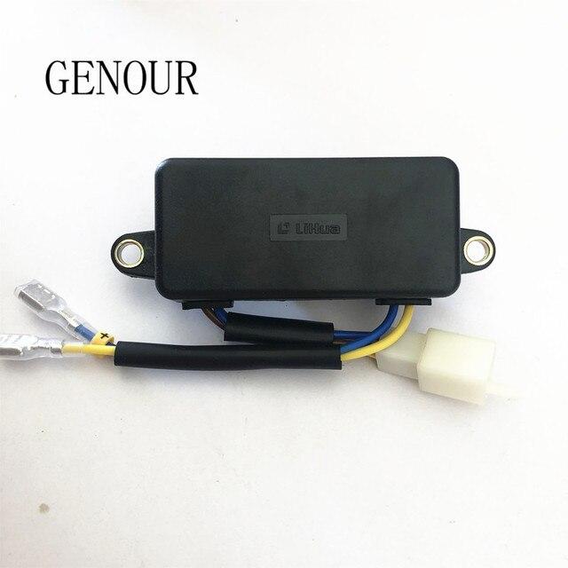 Оригинальный автоматический регулятор напряжения Lihua AVR, Выпрямитель 220 мкФ для китайского бензинового генератора 1 3 кВт, однофазный, 6 проводов, TT08 4C