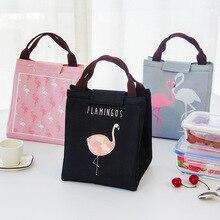 Сумки для пикника Фламинго Tote термальная сумка черная Водонепроницаемая оксфордская Пляжная сумка для ланча контейнер для еды теплая термо-сумка