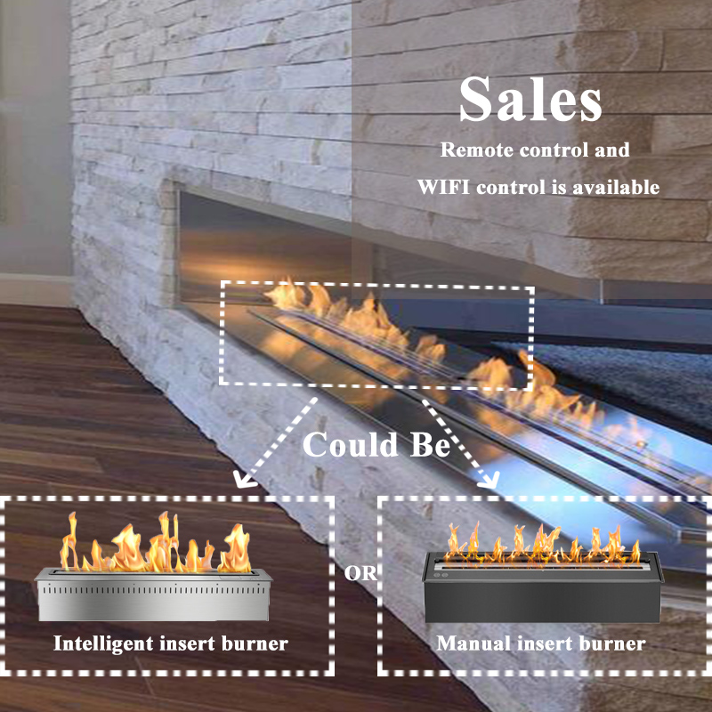 48 Inch Smart Remote Controlled Bio Ethanol Fireplace Bioethanol