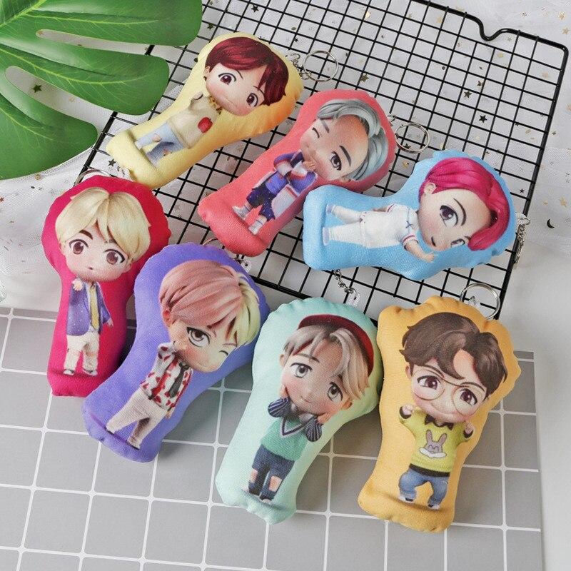 Kpop The House Of Bangtan Boys JK Q Style Cotton Pillow Keyring Keychain Bag Pendant 13CM Hot Sale