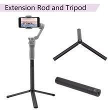 Barra de extensión palo escalable soporte de escritorio trípode para DJI OM 4 Osmo Mobile 2 3 Feiyu Vimble ZHiyun Smooth 4 estabilizador