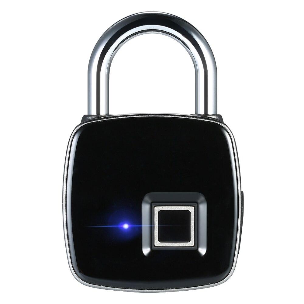 Smart Lock Keyless Fingerprint Biometric Anti-Theft Security With Finger Print Touch Keyless Lock USB Charge For Gym Locker