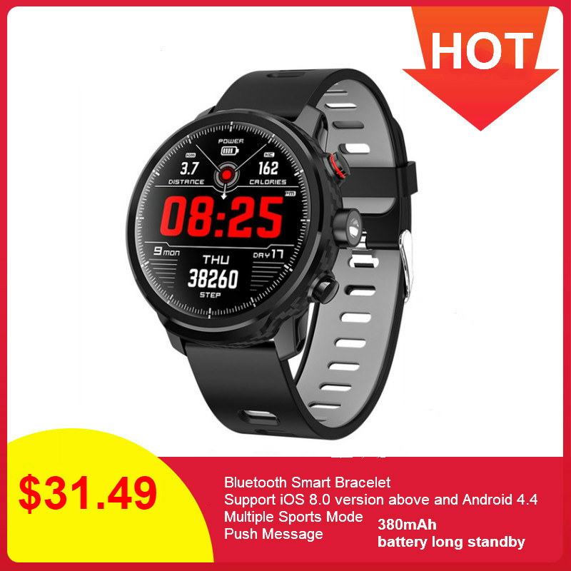 <font><b>L5</b></font> <font><b>Smart</b></font> <font><b>Watch</b></font> <font><b>Men</b></font> <font><b>IP68</b></font> Waterproof Reloj Hombre Mode SmartWatch With ECG PPG Blood Pressure Heart Rate Sports Fitness <font><b>Watches</b></font> image