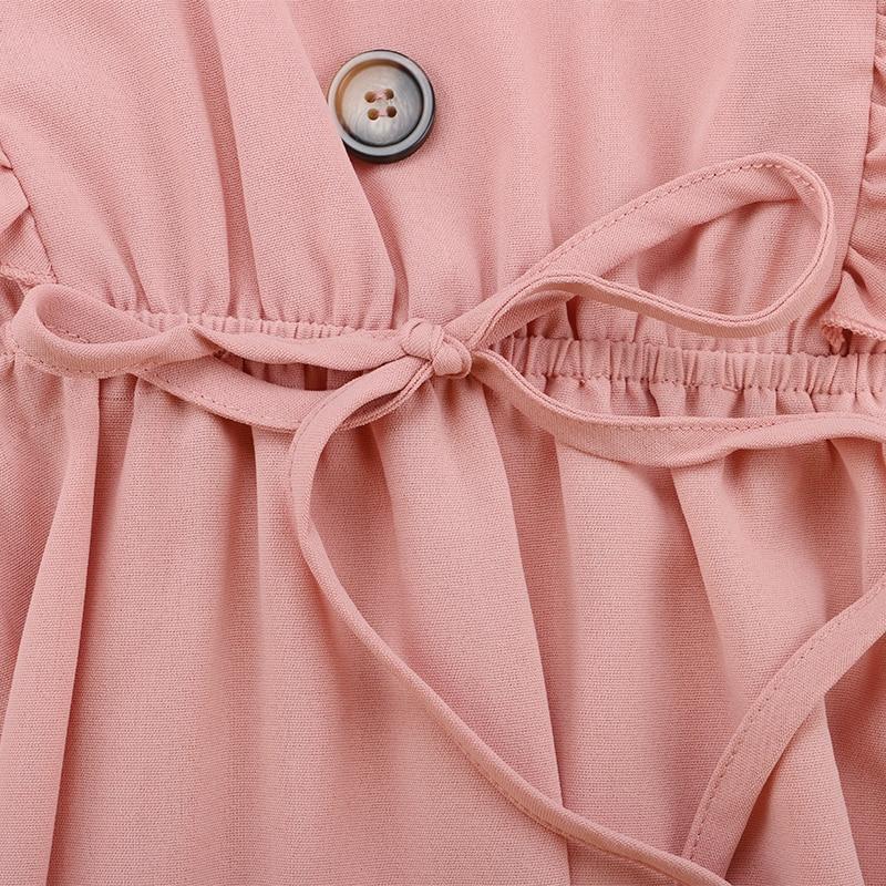 GVN Rocks Women's Ruffle V-Neck Boho Summer Dress