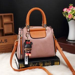 Image 2 - Brand Medium Large Capacity Ladies Totes Zipper Bear Strap Thread Shopping Office Women Crossbody Shoulder Bag Handbags