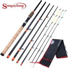 Sougayilang alta qualidade cortiça lidar com alimentador fiação vara de pesca 3.0m l m h power travel vara de pesca carpa alimentador pólo