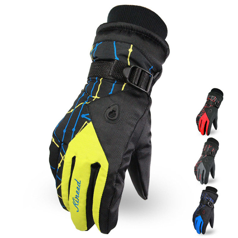 Outdoor Men And Women Mountain Ski Hiking Gloves Waterproof Warm Skiing & Snowboarding Tactical Gloves