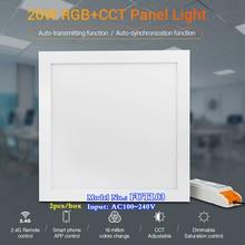 2pcs MiBOXER 20W RGB+CCT Panel Light AC110V 220V Color temperature2700~6500K can alexa/Google Assistant/Wifi/2.4G remote control