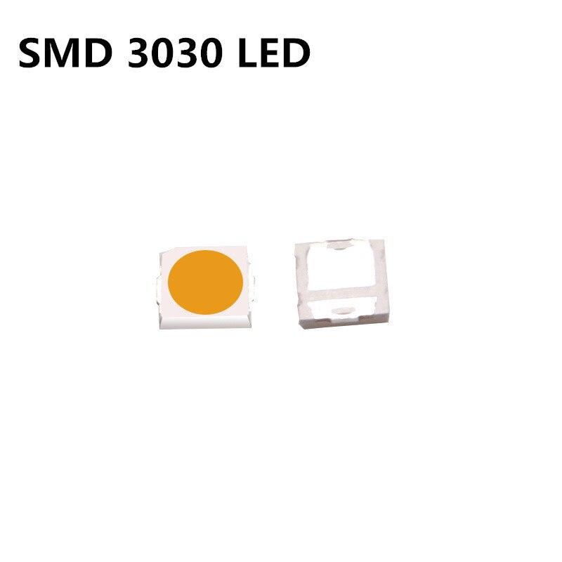 100pcs SMD СВЕТОДИОДНЫЙ 3030 чипы 1 Вт 3В бусины светильник посуда холодной естесственный белый 1 Вт 130LM поверхностного монтажа PCB светильник на светодиодах