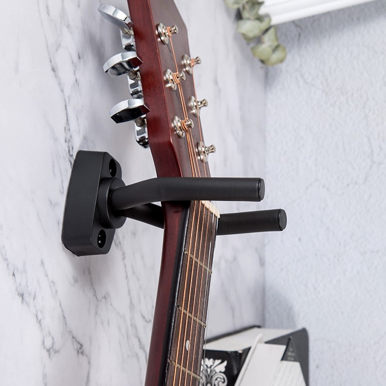 1 PCS Guitar Hanger Wall Mount Stand With Screws Hook Holder Rack Bracket Display Bass Ukulele Guitar Accessories