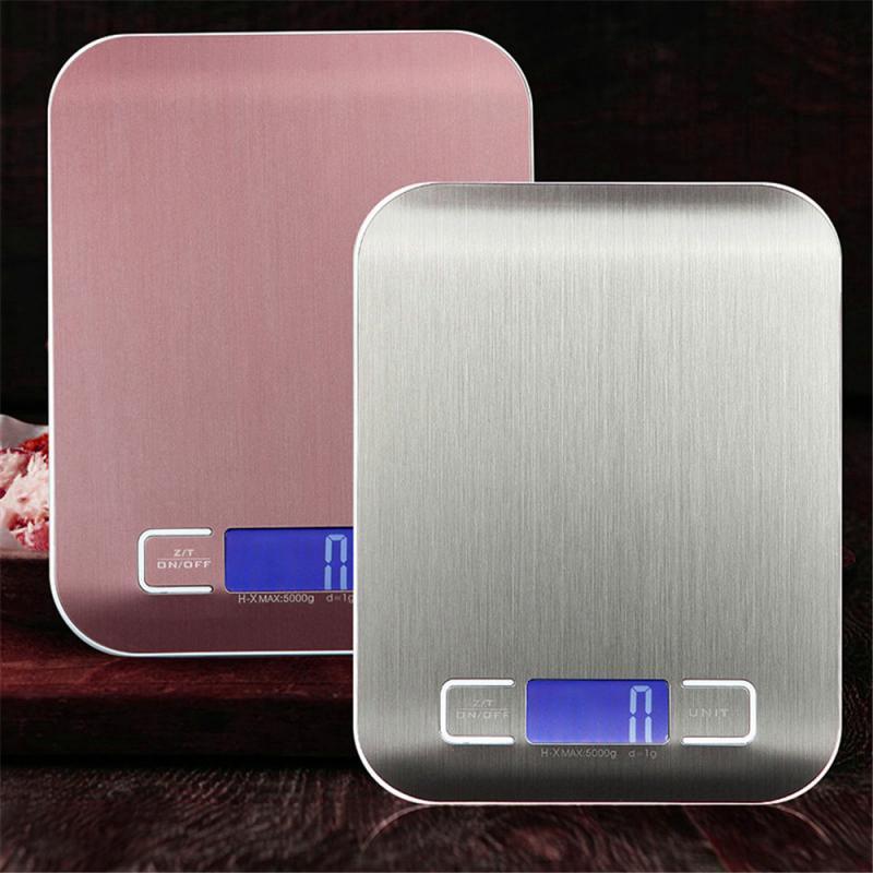 5/10 кг Нержавеющаясталь Высокая точность цифровой электронный ЖК-дисплей Дисплей балансовый масштаб Еда Вес дома Перезаряжаемые измерительный инструмент-2