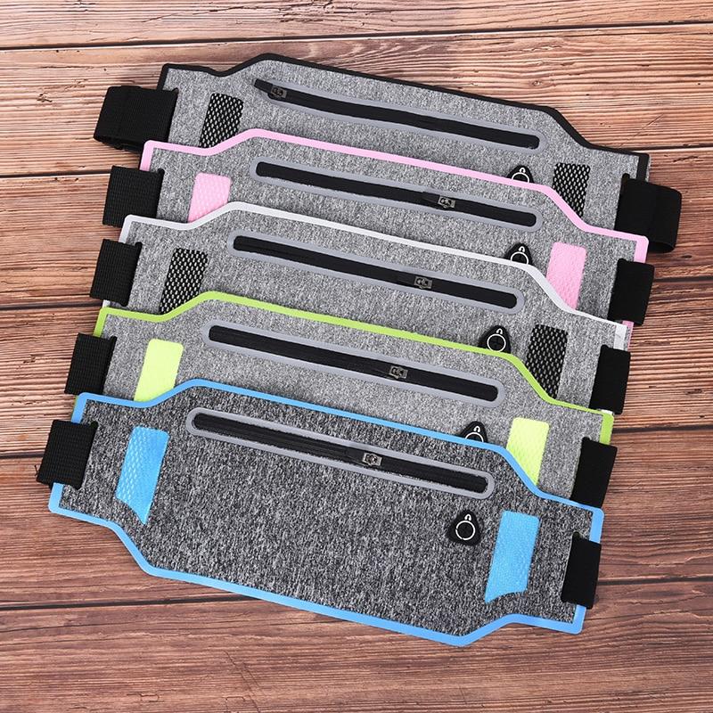 1PCS Pack Travel Belly Waist Money Belt Zip Hiking Pouch Wallet Belt Bags Ultra-thin Waist Pouch Running Sport Bum Bag