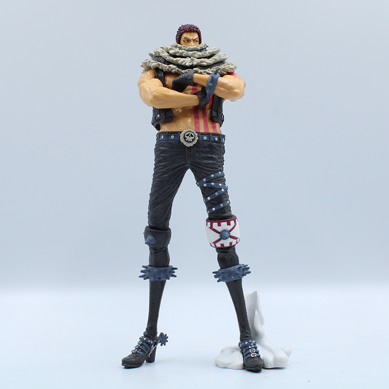 25cm Anime Comics <font><b>One</b></font> <font><b>Piece</b></font> Charlotte <font><b>Katakuri</b></font> Action <font><b>Figures</b></font> Toys Model Figurine Cosplay Props Accessory Birthday Gift image