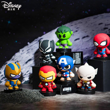 Disney Marvel series Iron Man Thanos Spider-Man figurine ornaments Car decorations Cartoon characters Collectibles
