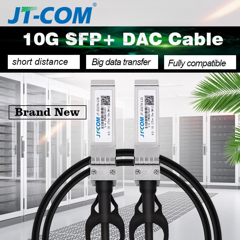 Brand New 10Gb SFP+ DAC Cable Passive Direct Attach Copper SFP Cable 1M 2M 3M Compatible Cisco Ubiquiti Mikrotik Huawei Switch
