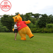 Mooie Winnie De Pooh Mascotte Kostuum Cosplay Animal Party Fancy Dress Voor Volwassen Carnaval Verjaardagscadeau Kerst Pluche Pop(China)