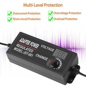 Image 5 - Adjustable AC to DC 3V 12V 3V 24V 9V 24V Universal adapter with display screen voltage Regulated 3V 12V 24V power supply adatper