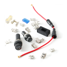 5X20 6X30mm Automobile Black Fuse Holder Electrical Panel Mounted with Thread and Spring BLX-A Type Insurance Header