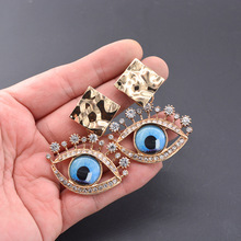 2019 new trendy fashion personality eye earrings  retro bohemian big dangle indian jewelry crystal luxury