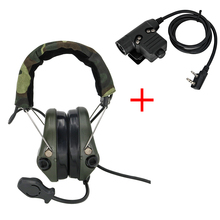 Tactical Sordin zestaw słuchawkowy polowanie strzelanie słuchawki wojskowe Pickup redukcja szumów ochrona słuchu nauszniki FG + U94 2 Pin ptt