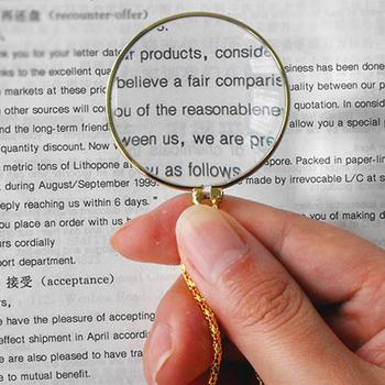 5 Times Zinc Alloy Necklace Magnifier Magnifying Glass Household Magnifying Glass For The Elderly Small Light Urijk Portable Ha 100 times magnification portable microscope magnifying glass with light foot porcelain jade coin identification