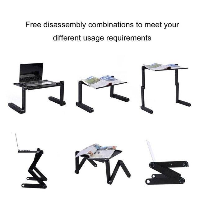 Фото регулируемый алюминиевый стол для ноутбука эргономичный тв кровать