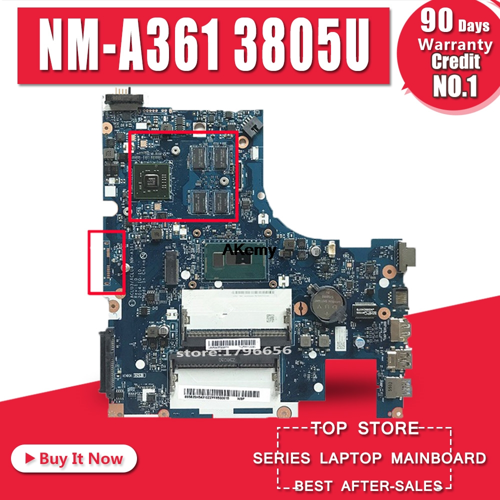 ACLU3/ACLU4 <font><b>NM</b></font>-<font><b>A361</b></font> motherboard for <font><b>Lenovo</b></font> G50-80 G50-80M notebook motherboard CPU 3805U R5 M330 DDR3 100% test image