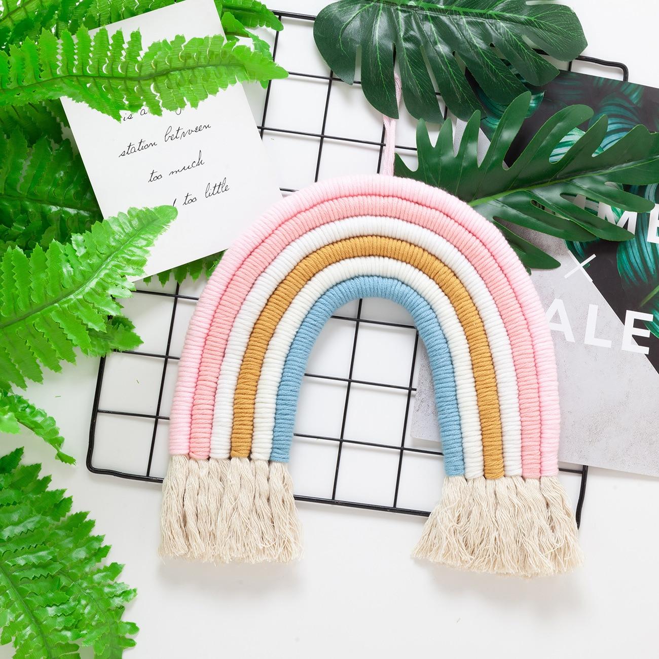 Crianças quarto arco-íris parede pendurado decoração do
