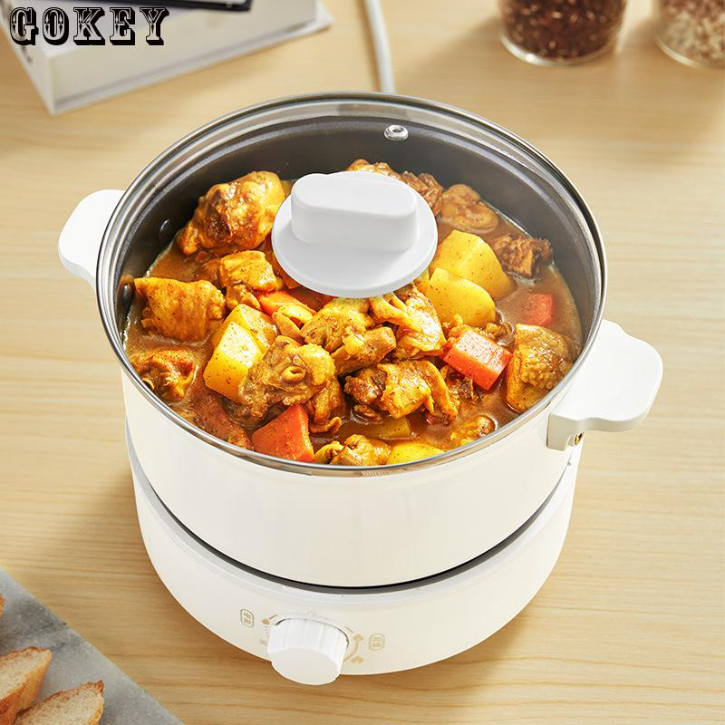 Food Cooker Electric Soup Cooker Split Hot Pot Non-stick Pan 220v 2.5l 750w Mini Cooking Pot Heating Stew Pot Sous Vide Cooker