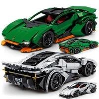 864 sztuk pomysły techniczne znane sportowe samochodowe klocki budowlane Moc Sports Racing Model cegły edukacyjne zabawki dla chłopców prezent świąteczny