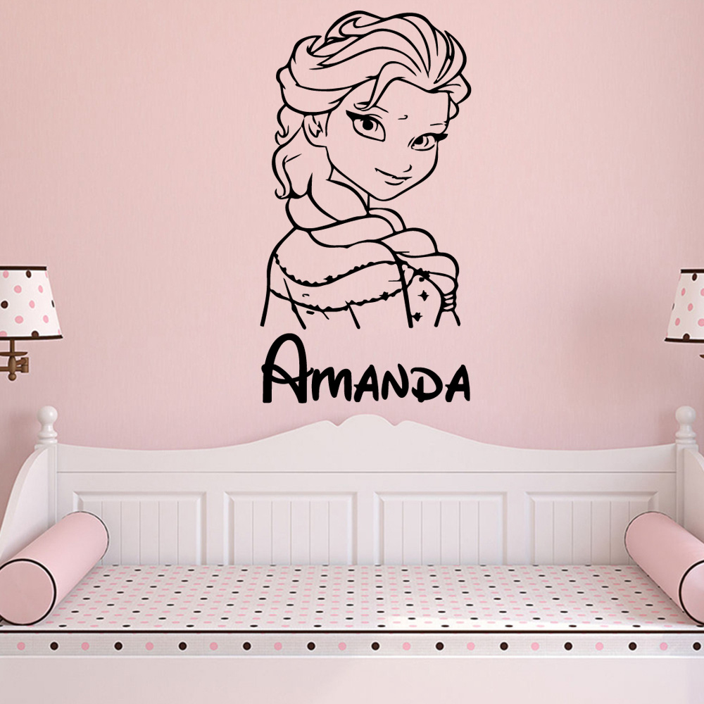 Lovely Queen Wall Decals Custom Name