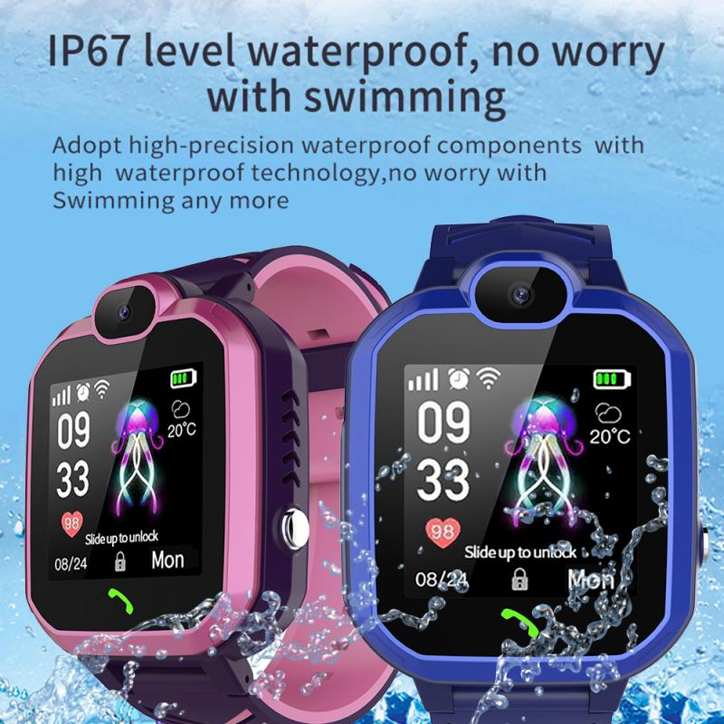 L&PC <font><b>R7</b></font> <font><b>smart</b></font> <font><b>watch</b></font> waterproof for men women Kids Children <font><b>watch</b></font> SOS GPS Finder call locator tracker anti-lost monitor with box image