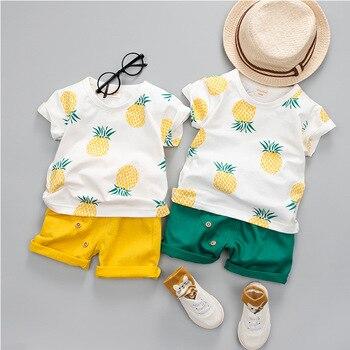 Baby Boys Fashionable Pineapple Print Short-sleeve Tee sets Baby Baby Boy Sets (Hot)