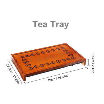 New Chinese Purple Clay Kung Fu Tea Set Drinkware Tea Cup Tureen Infuser Chinese Tea Ceremony with Wood Tea Tray Chahai Tea Tabl