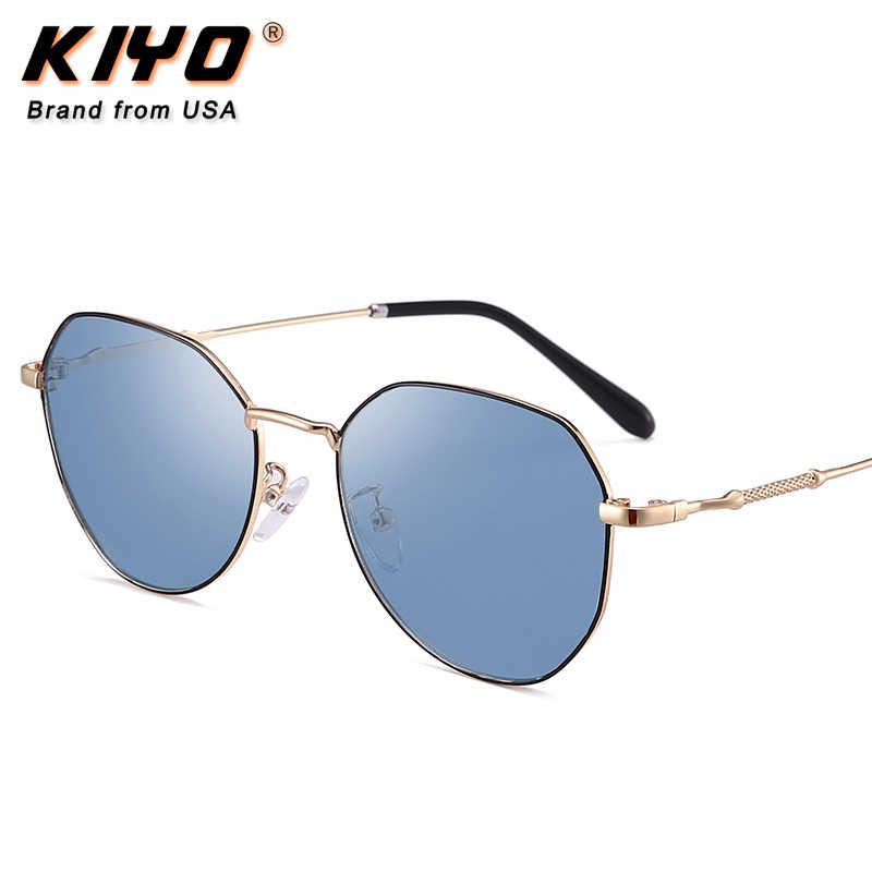 קייו מותג 2020 חדש ילדים מצולעים Photochromic מקוטב משקפי שמש מתכת אופנה שמש משקפיים UV400 נהיגה Eyewear 9639