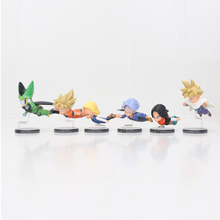 цены 6pcs/set WCF Battle of Saiyans Figures Set Gohan Goku Vegeta Broly Majin Boo Model Dolls Dragon Ball Z Collectable Figurine Toy