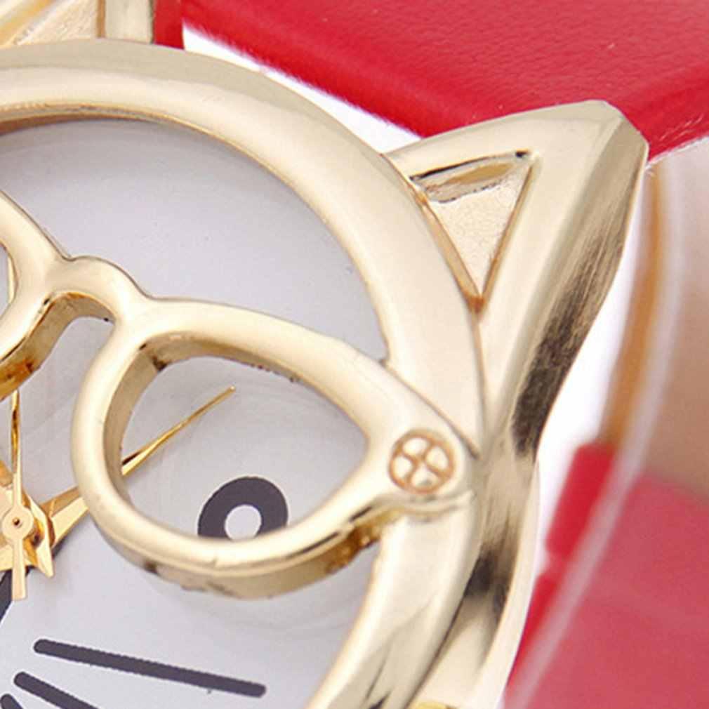 Relógio de pulso relógio de pulso de quartzo feminino bonito gato relógios de pulso crianças presentes relogio feminino senhoras vestido relógios
