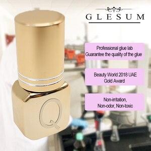 Image 3 - Glesum Gold Bottles Strong 0.5s, extensión de pestañas negras de secado rápido, pegamento Queen sin látex, adhesivo de baja irritación