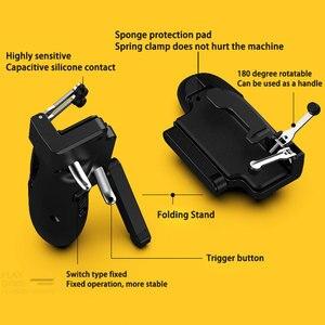 Image 4 - חדש H11 PUBG Gamepad בקר שש אצבע משחק ג ויסטיק ידית עבור Ipad Tablet L1R1 אש כפתור המטרה מפתח PUBG הדק