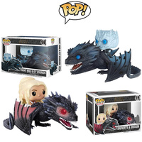 FUNKO POP Game Of Thrones Figure Anime doll toy Night King Daenerys Dragon collection model toys toys Christmas gift for kids