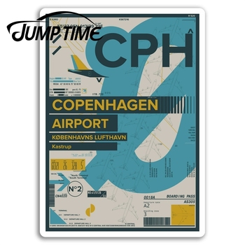 Jump Time for Copenhagen Airport Vinyl Stickers CPH Sticker Laptop Luggage Car Decal Window Wiper Trunk Car Styling image