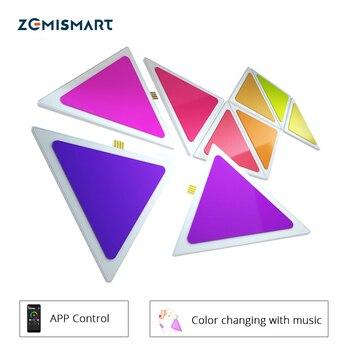 Zemimart rythme musique synchronisation lumière de LED intelligente panneaux APP contrôle Alexa écho commande vocale