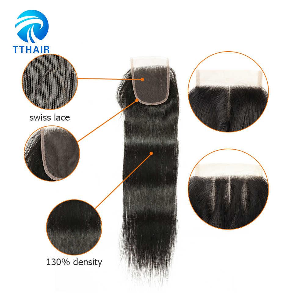 TTHAIR, прямые пряди волос, с застежкой, Remy, перуанские волосы, волнистые пряди, человеческие волосы для наращивания, 3 пряди, с застежкой
