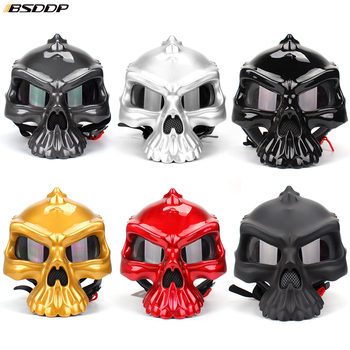 personality fashion Double Use Helmet Skull Motorcycle Helmet Half Face Helmets Capacetes Casco Retro Casque for Harley KTM BMW