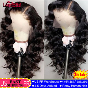 Lace Front Human Hair Wigs Body Wave Wig HD Transparent Lace Loose Deep Closure Wig 28 Inch Remy Brazilian 13x6 Lace Frontal Wig(China)